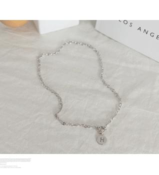 H Coin Necklace #86592