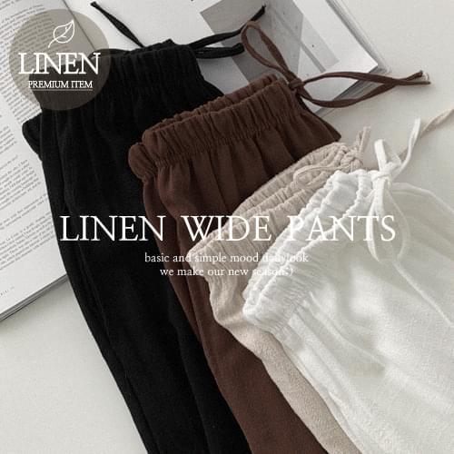 Oka Linen Wide Pants