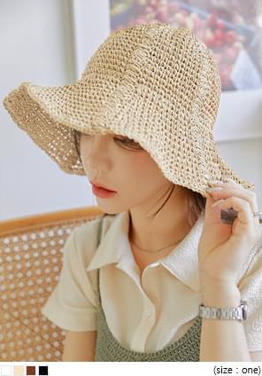 Floppy Brim Woven Bucket Hat