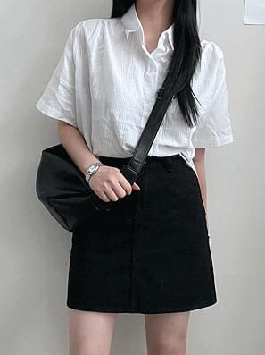 Basic cotton mini skirt