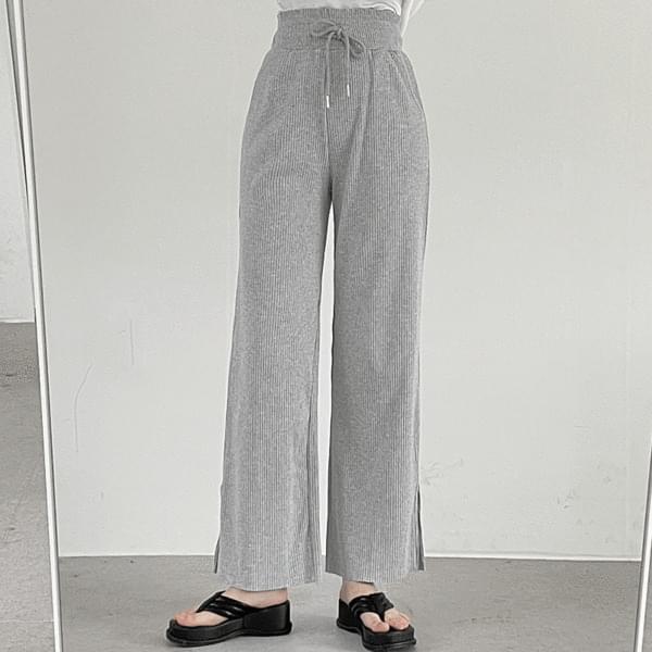 Carbon Ribbed Banding Pants