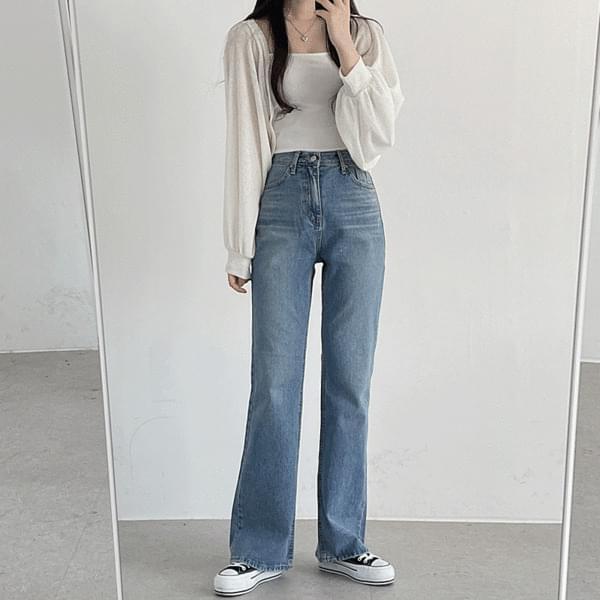 salt wide denim pants