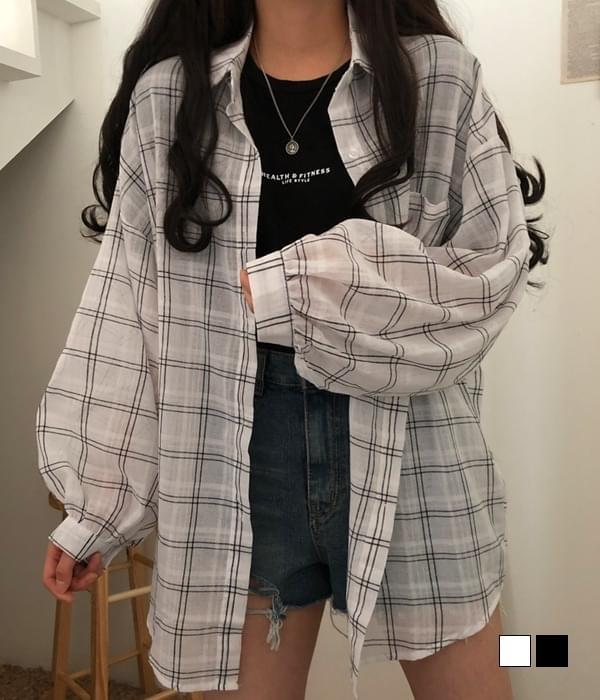 Checkered linen check shirt 襯衫