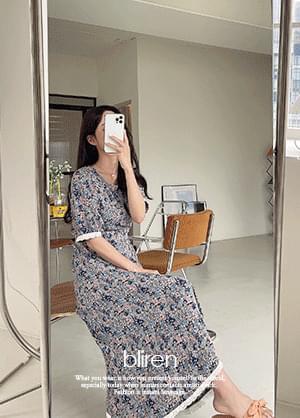 Blearen Flower Lace Long Dress