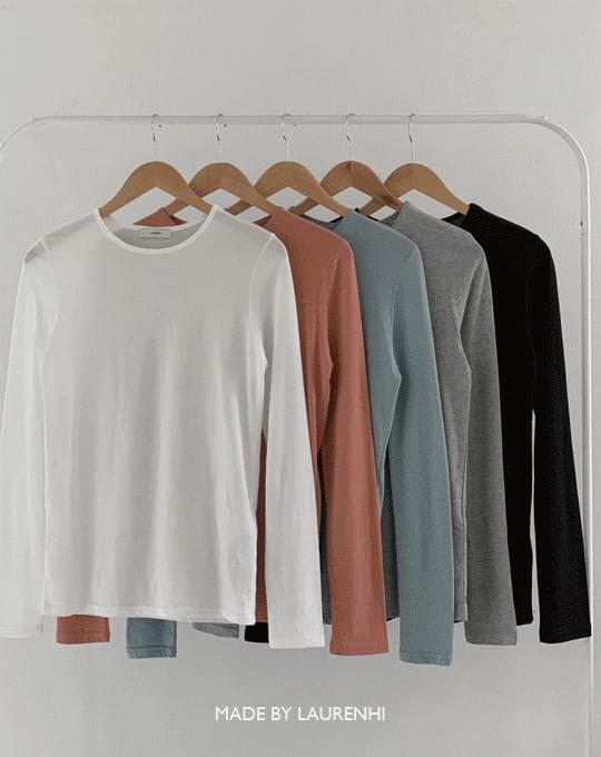 Soft Modal Round Long Sleeve T-shirt - 6 color
