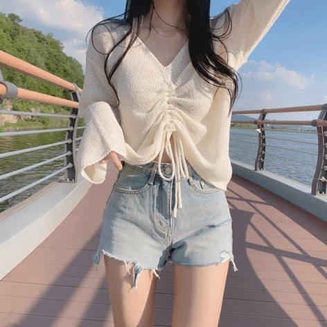 Choa Bookle String Knitwear