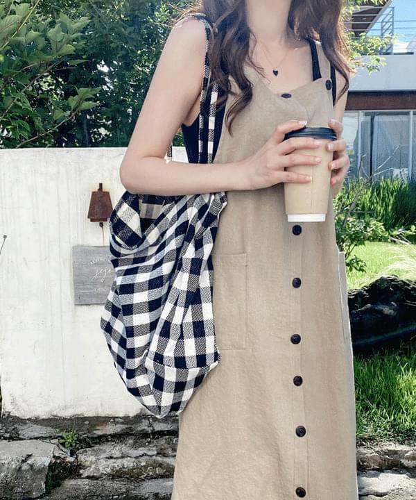 Tomorrow linen overall Dress