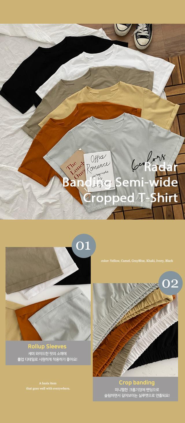 Radar Banding Sammy Wide Crop T-shirt