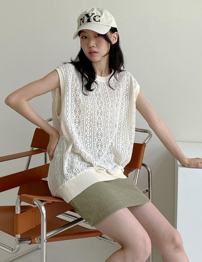 Net Knitwear Best 針織外套