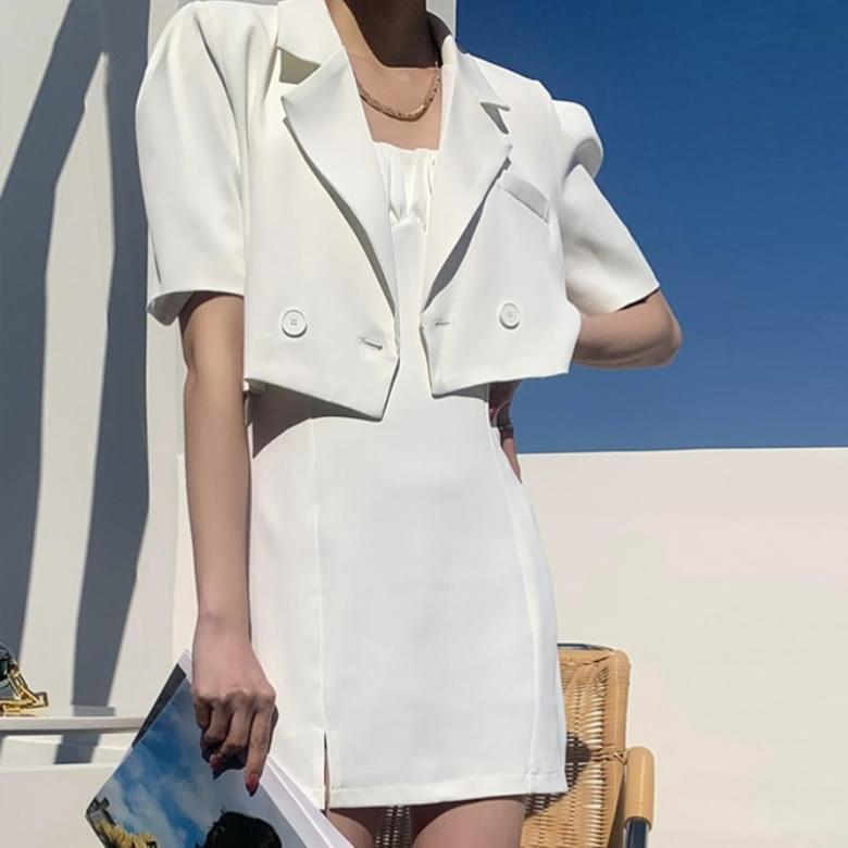 Jiwen Luxury Sleeveless Dress Suit Two-Piece