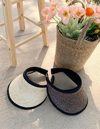 raffia straw sun cap