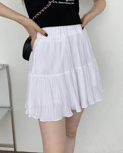 Colby Minimal Pleated Cancan Mini Skirt