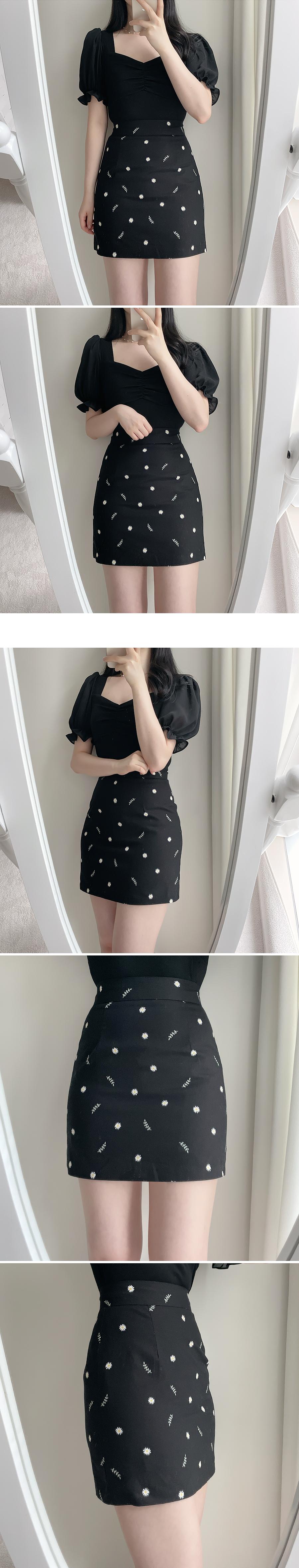 Franc Flower Mini Skirt 2color