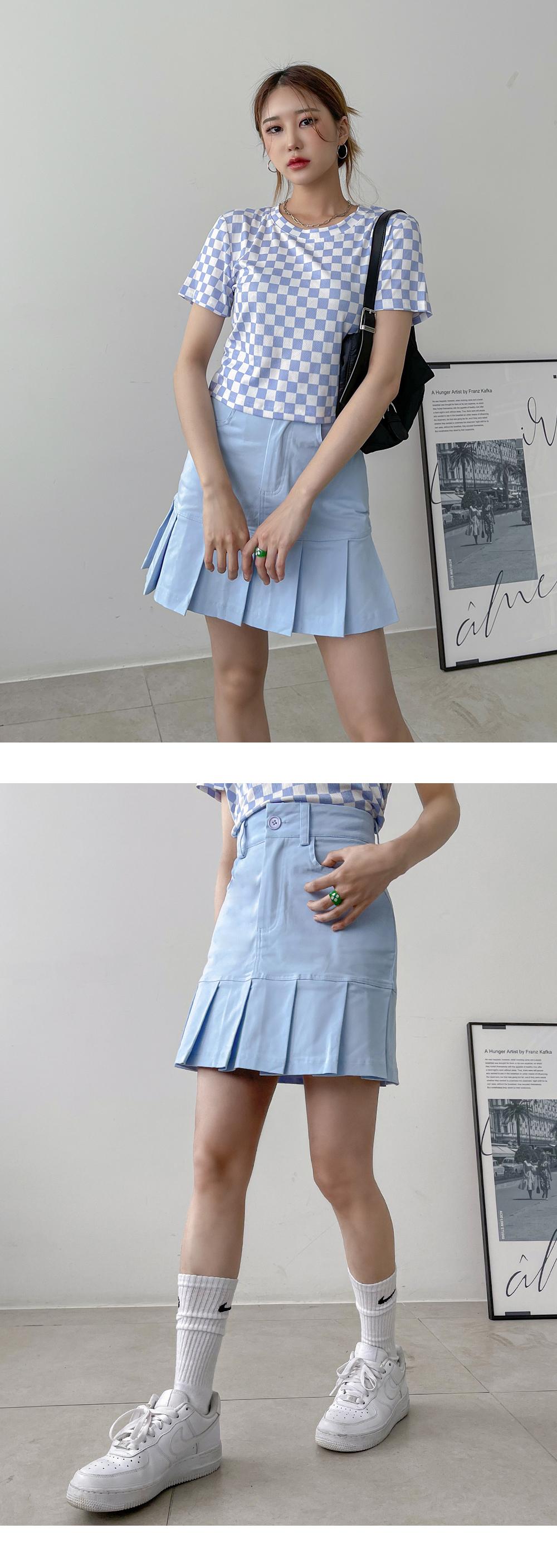 Luanne pleated mini skirt