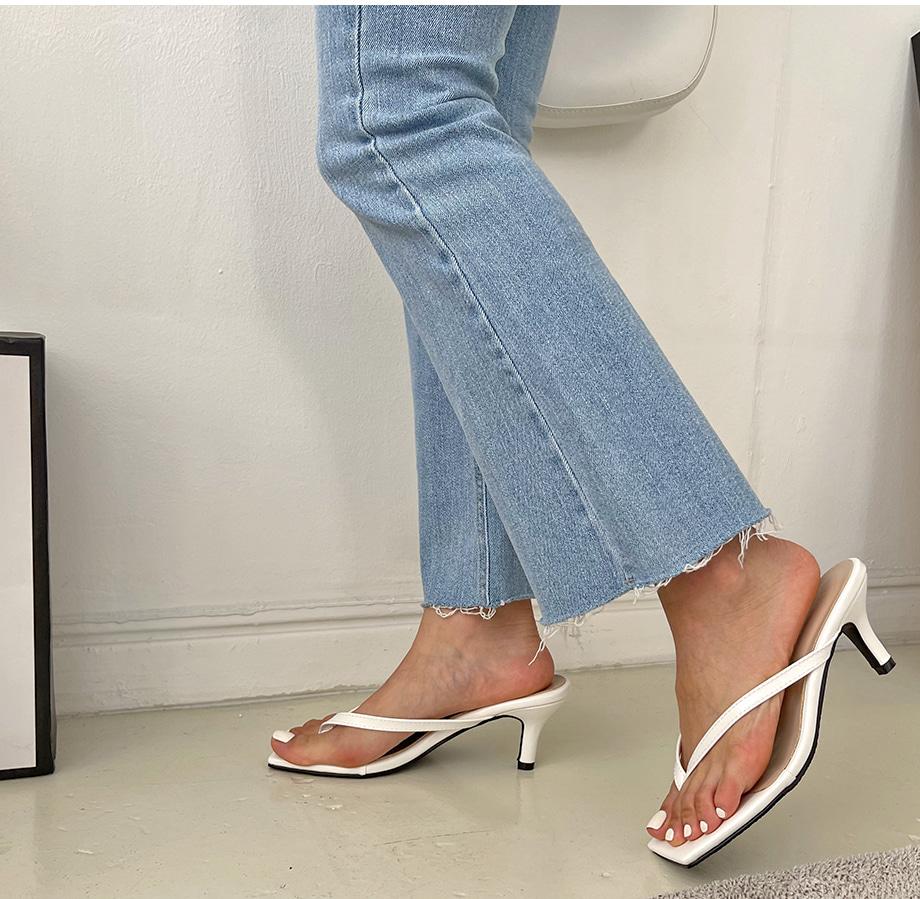 ainsle square shorts sandal heels