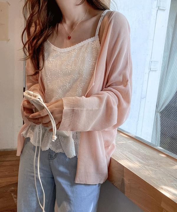 Sweety Lace Sleeveless - Cream Beige Same Day Shipping