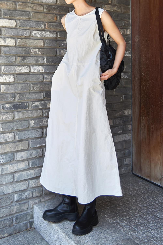 Nylon plain maxi Dress
