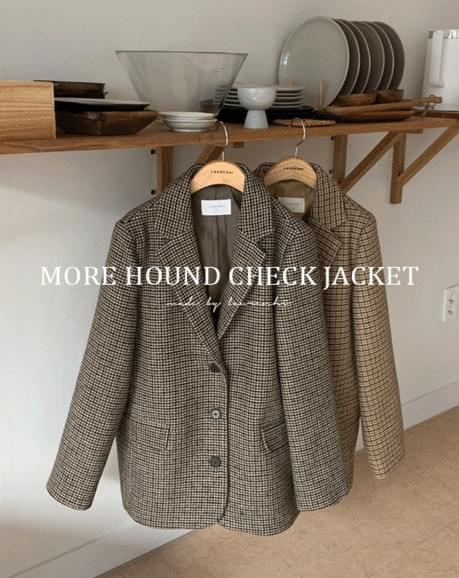 morel hound check midi jacket