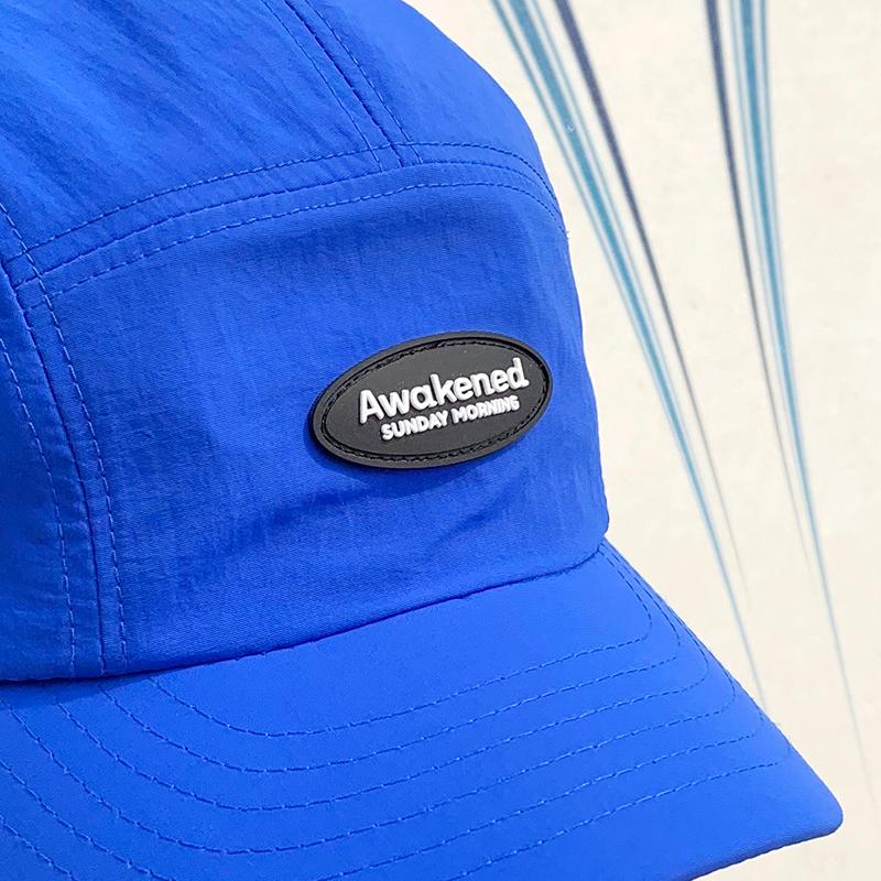 label patch camp cap hat