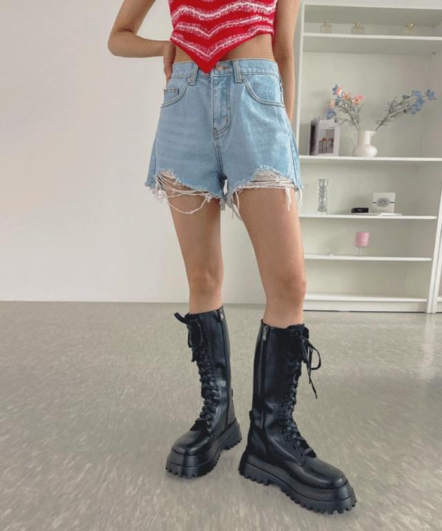 Berman Damage Denim Short Pants