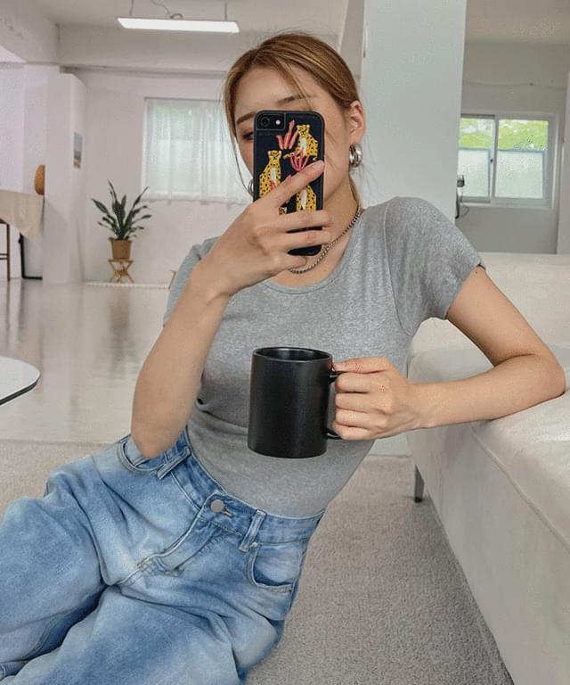 Shockeren Basic Slim Short Sleeve Tee