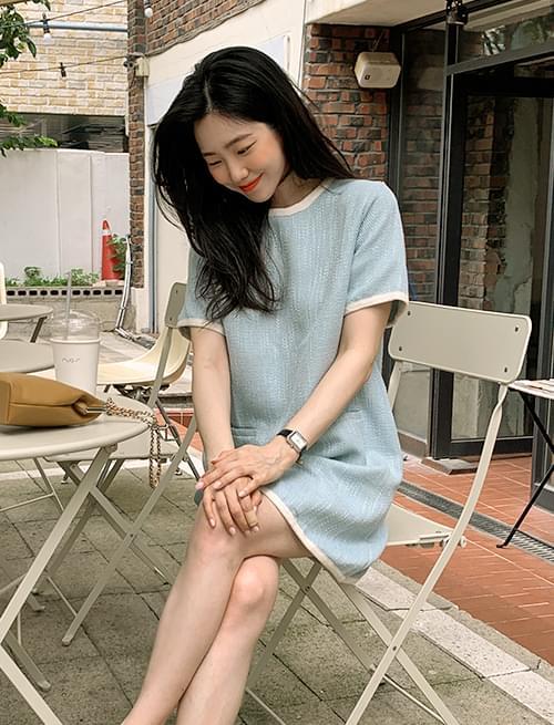modern tweed mini Dress