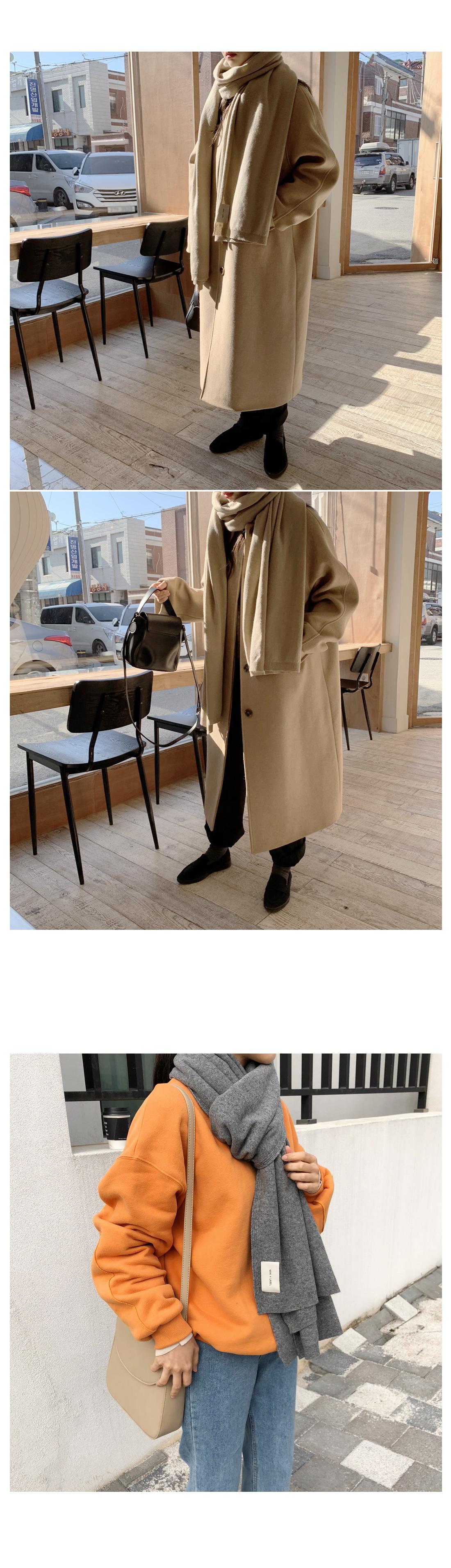 Merit Cash Wool Muffler - Brown