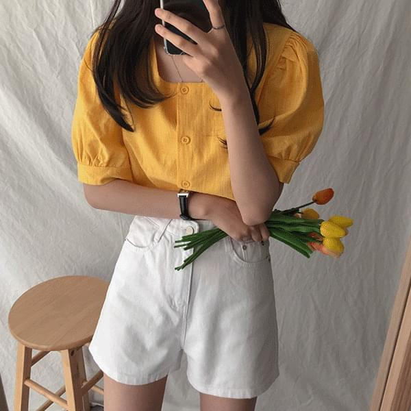 Nana, square puff blouse