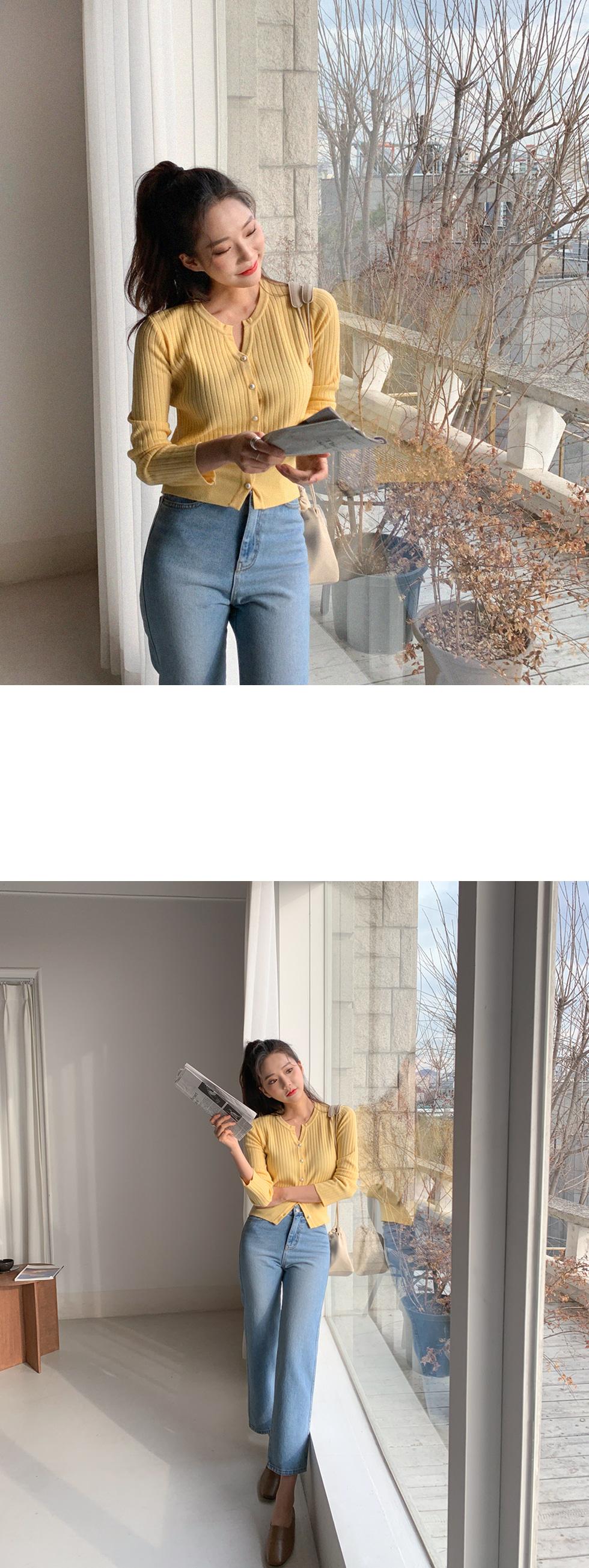 Three color denim pants