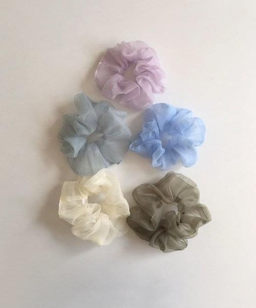 summer color scrunchie