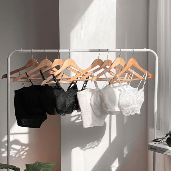 No-wire bra top black & white set seamless panties