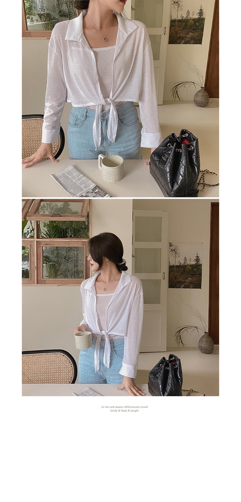 Aro sleeveless shirt - set