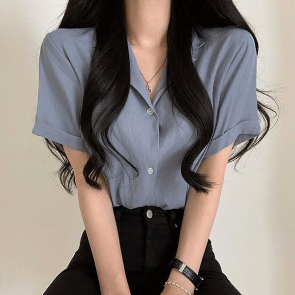 cool summer collar blouse