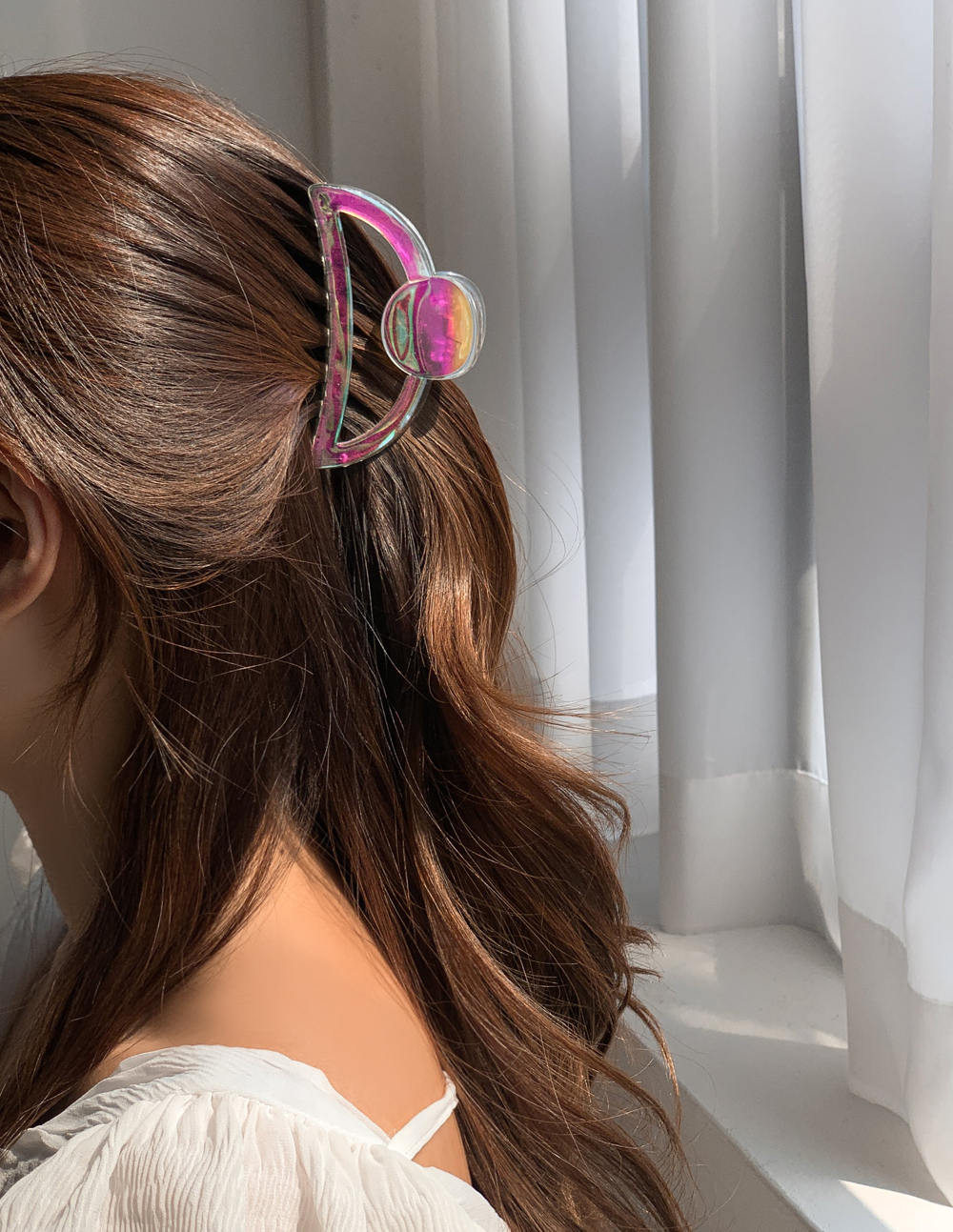 Holographic Transparent Jelly Hair Tongs