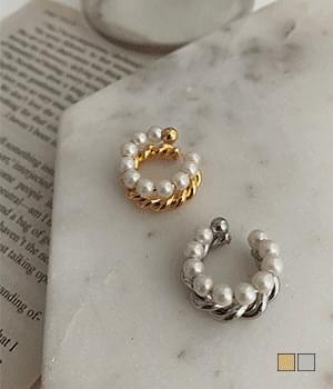 pearl twist ear cuffs