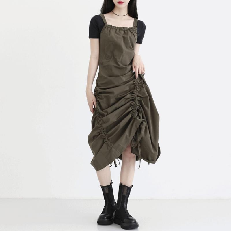 Hadid shirring long Dress