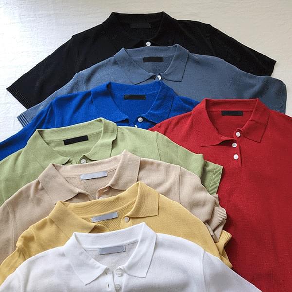 8 colors, Maeil Cara Short Sleeve Knitwear