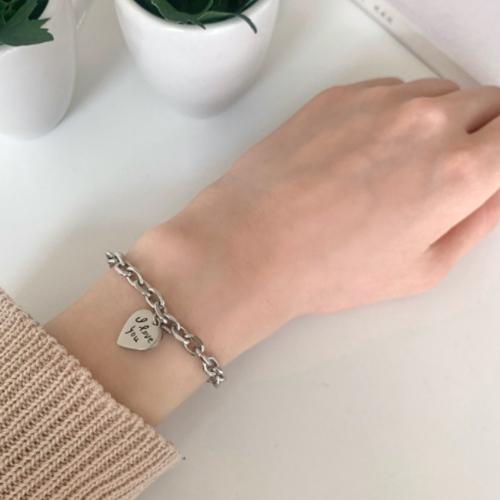 Heart Chain Bracelet 2color A#YW027
