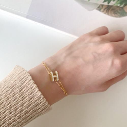 Yeoritam H Basic Chain Bracelet A#YW029