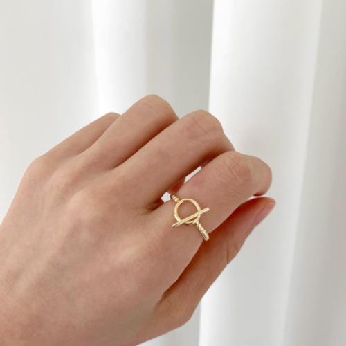 Q point ring 2color A#YW021