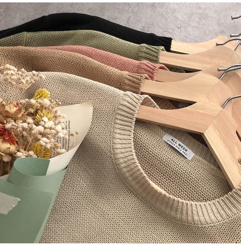 Breathe #Acrylic Round Knitwear