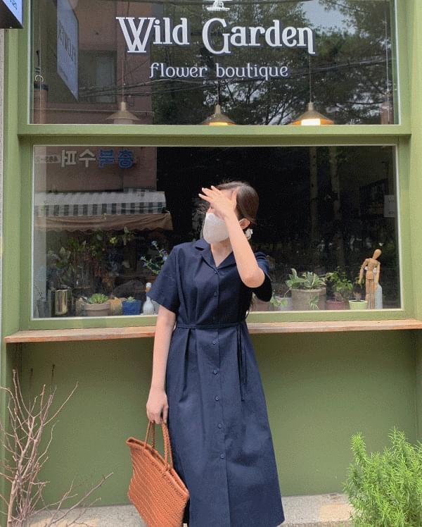 #made some picnic long linen shirt Dress