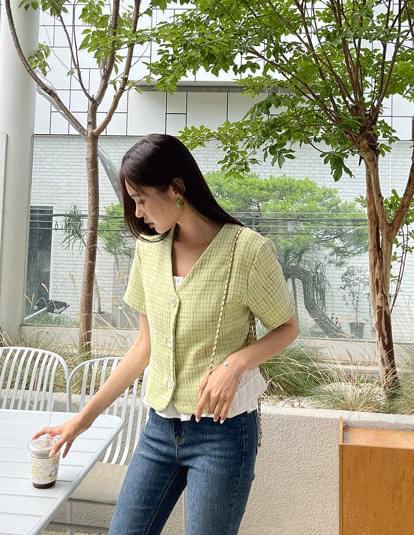 tweed cropped blouse jacket