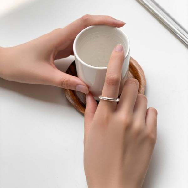2mm Silver 925 One Basic Silver Ring Ring