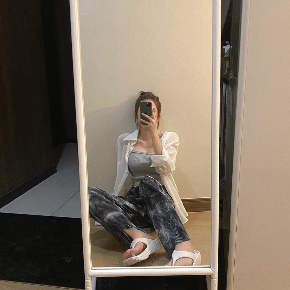 dyed pleated pants 長褲