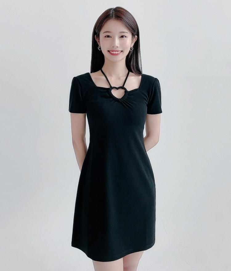 HEART CLUBHeart Cutout Detail Mini Dress