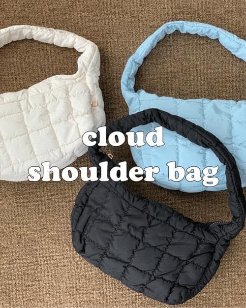 Lumpy cloud quilted mini shoulder bag