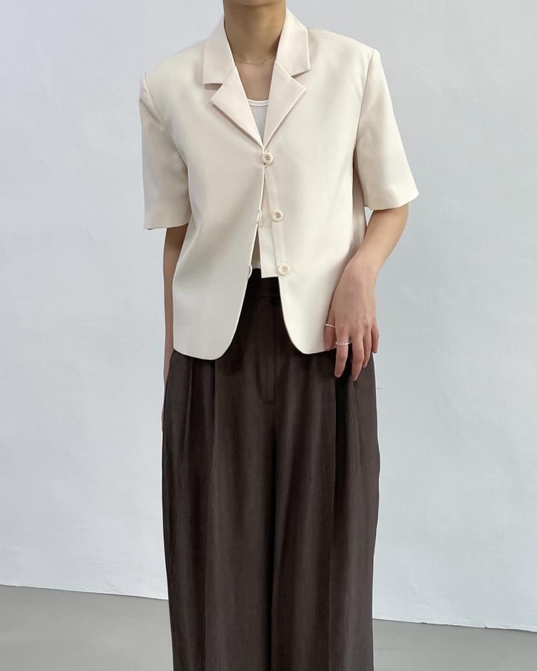 sandro blouse short sleeve jacket