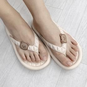 quilted teddy bear slippers