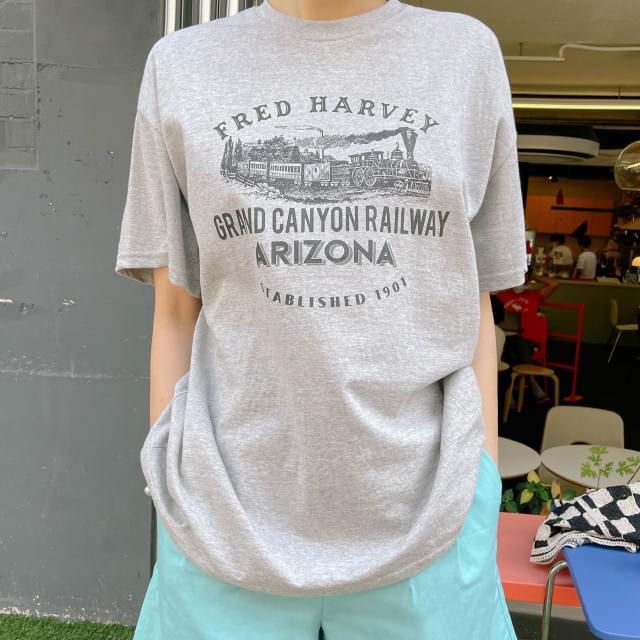 Arizona Loose-fit print tee 短袖上衣